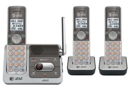 AT&T CL82301 DECT 6.0 Cordless Phone 3 Handsets